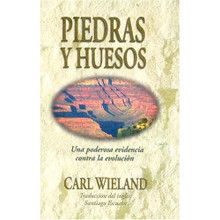 Piedras Y Huesos: Una Poderosa Evidencia Contra la Evolusión  by Carl Wieland  (Spanish)  A handy 42-page booklet that covers a wide range of questions in the evolution vs. creation debate. From radiometric dating to puzzling questions (Where did Cain get his wife?), this book is ideally suited for home and church studies, and also makes a great witnessing tool. High school - adult.