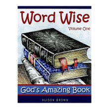 "Word Wise Volume 1: God's Amazing Book  By Alison Brown  Many children have heard the stories of Abraham, Moses, Joshua, Daniel etc. but are still unaware of the chronology of the Bible, or the important part each character played in God's big plan for mankind. Using wordsearches, jumbled sentences, number codes, and crosswords, these pages provide a journey through the Bible to help children see ""the big picture"".  Format: Paperback Number of Pages: 32 Vendor: Banner Of Truth Publication Date: 2009"