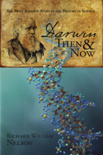 "Darwin, Then and Now is a journey through the most amazing story in the history of science - the history of evolution; encapsulating who Darwin was, what he said, and what scientists have discovered since the publication of The Origin of Species in 1859.  With over 1,000 references, Darwin's life climaxing in the search for the natural law of evolution, a law he called ""natural selection,"" is investigated in the context of the scientific evidence since discovered in the Fossil Record, Embryology, Molecular Biology and Genetics."