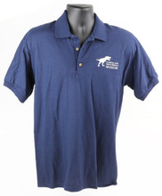 Creation & Earth History Museum (C&EHM) T-Rex Polo - Adult - Navy  Available Adult Sizes: Small, Medium, Large, X-Large, 2 XL, 3XL  Color - Navy Blue with White Logo