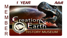 Individual Adult Yearly membership to the Creation and Earth History Museum