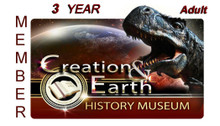 Individual Adult 3-Year Membership to the Creation & Earth History Museum