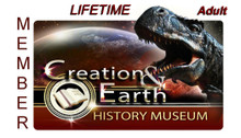 Individual Adult Lifetime Membership to the Creation & Earth History Museum