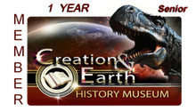 Individual Senior Yearly Membership to the Creation & Earth History Museum