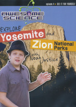 Explore Yosemite and Zion National Parks with Noah Justice (Awesome Science Episode 4) will take children and teens to two of the most beautiful national parks in the country. Viewers will learn why the valley is evidence of erosion from a global flood; why only one major ice age may have occurred; and how Zion's layers, arches, and hanging valleys formed.  Traveling is even better when you discover the evidence of biblical history and truth along the way. Hosted by 14-year-old homeschooler Noah Justice, his fresh approach to science and the Bible will get children more excited about the truth with each episode of Awesome Science. 30 minutes on DVD. Kids & Teens.  DVD Region1 DVD Playable in Bermuda, Canada, United States and U.S. territories. Please check if your equipment can play DVDs coded for this region.