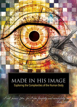 Made in His Image  A four-episode DVD series on the complexities of the human body  Following the the enthusiastic response to their groundbreaking DVD series Unlocking the Mysteries of Genesis, the Institute for Creation Research offers Made in His Image, a four-episode series that will take the audience on a journey through the most complex and miraculous creation on Earth—us.  There is no better example of complex, conscious design than the human body. This awe-inspiring series will explore some of its most extraordinary systems, which are so perfectly designed and masterfully engineered that the viewer will be left with no doubt that we are indeed created by an expert designer, God.  Produced from a biblical perspective, Made in His Imagewill inspire audiences by looking at the human body in all its wonder—fully functional, fully human, and fully created in God's image.  Featuring medical, engineering, and other experts like Dr. Randy Guliuzza, Made in His Image will fascinate audiences with mind-blowing facts, dazzling imagery, and memorable illustrations.  The four episodes will examine the stages of human development and show that everything we need to fulfill God's plan is instilled in us from the first moments of life. Each episode reinforces the knowledge that every human is special to God. He has endowed each of us with unique physical abilities, intellect, and spiritual lives to fulfill His purpose.  Episode 1: The Miracle of Birth. Only a masterful Creator could enable a baby to thrive in a watery world for nine months then suddenly live in an air-breathing environment at birth. Witness His incredible design from gestation to birth.  Episode 2: The Marvel of Eyes. The intricate engineering of the human visual system is vital for cognitive development from infancy through adulthood.     Episode 3: Uniquely Human Hands. Human hands and muscles display purposeful design, granting us unique abilities controlled by a sophisticated nervous system.  Episode 4: Beauty in Motion. This final episode illustrates the peak of human ability through athletic performance and highlights the aspects of complex design that confirm divine creation.