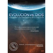 Evolution vs. God (Spanish)  Evolución vs. Dios  Millones de personas creen que la evolución Darwiniana es científica. Este DVD muestra que no lo es mediante entrevistas a científicos evolucionistas de UCLA y USC, así como a estudiantes del área de la biología.