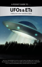 A pocket guide to UFOs & ETs  Star Trek, Star Wars, ET, Alien, Men in Black, Doctor Who, The X-Files, Guardians of the Galaxy. It is clear that stories of extraterrestrials have captured the imagination of Hollywood... and the world. According to a recent survey, more than a third of Americans believe that aliens have visited earth.  This pocket guide covers:  Why all the interest in UFOs? What does the Bible say? How do we explain all those UFOs? Is there an alien invasion of a different type? Have extraterrestrials visited earth in the past? Does the Bible talk about UFOs and ETs? Since these are modern terms, we shouldn't be surprised that the Bible does not directly mention them. On the other hand, the Bible does give us information to help us develop a biblical response to UFOs and ETs. Ultimately, we must allow God's Word to be our authority in every area.