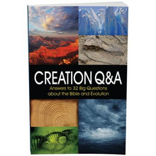 Creation Q & A  Answers to 32 big questions about the Bible and evolution  What is the debate between creation and evolution, and does it matter?  If you're new to these things, then this booklet is for you. Gain a comprehensive understanding of creation from a scientific perspective, catch quick answers to a variety of evolutionary arguments, and discover a world of top-notch research that confirms what the Bible says about our origins. If you've got questions about genetics, radiometric dating, geology, dinosaurs, the Big Bang, Noah's Ark, or even tree rings -- we've got answers.  Think evolution is a fact? After just a few pages, you may start thinking differently.