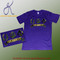 Soft cotton fabric with Omega Psi Phi appliqué graphic detail, crew neckline and clean hem. Imported.