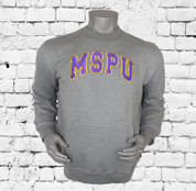 "The Omega Psi Phi Sportswear MSPU Men's Sweatshirt is made for all-day comfort thanks to the relaxed feel. ""MSPU"" patches are sewn onto the chest design. The left shoulder embroidered Omega Thunder design."