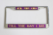 Put some ΩΨΦ Fraternity spirit on your vehicle and take it for a spin! This Omega Psi Phi license plate frame will proudly tell all what you represent and support.