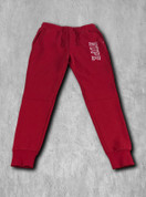 "Nupe athletic fleece jogger pants made with triple-layer, double-jersey performance fleece for superior comfort and feel.  Fashionable slim fit profile constructed with knee patchwork and 3"" ribbed ankle cuffs for a secure fit and full range of motion.  Side slant pockets, zipper rear pocket and drawstring waist."