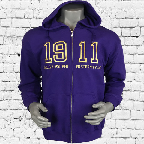 A perfect layer for your cool weather workouts, the Omega Psi Phi Lightweight Fleece Full-Zip Hoodie with a zip-up design is perfect for what you need for training.