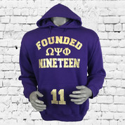 "Show off the iconic ""Omega Psi Phi"" graphic. This comfortable sweatshirt features brushed fleece for extra softness, and the ribbed cuffs and hem hold the crew in place."