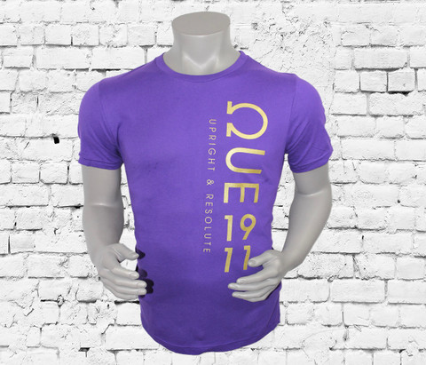 Crafted from 100% cotton jersey, this Omega Psi Phi T-shirt features an ΩUE 1911 graphic along the left side.