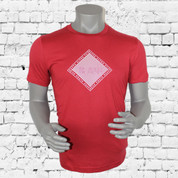 Crimson ΚΑΨ t-shirt with center chest design. This Kappa Alpha Psi shirt features a abstract diamond design, which is the perfect shirt for any casual event.  100% cotton available for immediate delivery.