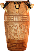 KAPPA ALPHA PSI HAND CARVED DRUM 3