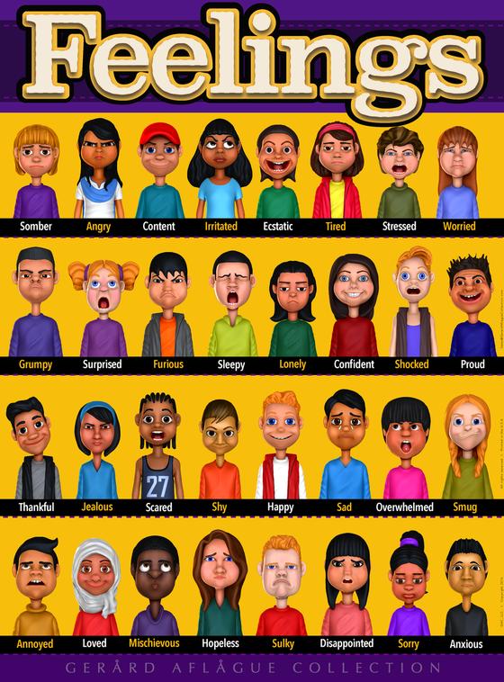 Feelings Or Emotions Poster 18x24