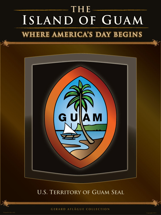 Guam Gift Guam Art U S Territorial Seal Of Guam