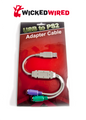 32cm USB 2.0 To PS2 Female Adapter Cable