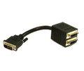 30Cm DVI-D To 2 X DVI F Cable