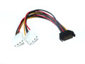 20CM SATA M  To 2 X Molex Power