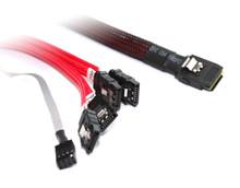 1M M-SAS -4XSATA + Sideband Cable
