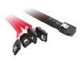 1M MINI SAS To 4XSATA Cable