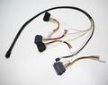 1M Internal Mini SAS HD to 4xSAS29 And Power Cable