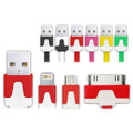 3in1 USB Charger / Data Cable Adapter For Apple/Samsung