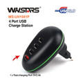 Portable 4 Port USB Charge Station with Foldable Plug