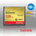 128GB SanDisk Extreme CompactFlash Card with (write) 85MB/s and (Read)120MB/s - SDCFXSB-128G