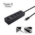 Type-C  USB3.1 HUB for Apple PC 3 Port with switch + Card Reader