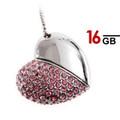 16GB Heart Shape USB Pen Drive (Pink)