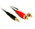 0.5M 3.5MM Plug to 2 x RCA Plug cable