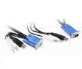 1.8M USB VGA KVM Cable Set with Audio