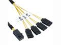 1M Internal Mini SAS HD to 4xSATA Cable