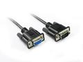 2M Black DB9 M/F Serial RS232 Cable