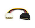SATA M To Molex F Power Cable