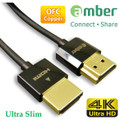 AMBER HDMI-AA220 ULTRA SLIM HDMI CABLE A-A 1.8M FOR 4K ULTRA HD