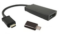 AMBER MHL MICRO USB TO HDMI ADAPTER + 5 TO 11 PIN CONVERTER