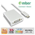 AMBER CU3-AV01 ADAPTER USB3.1 type C to VGA