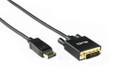 1M Active Displayport to DVI Cable