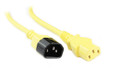 0.5M Yellow IEC C13 to C14 Power Cable