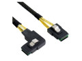 100CM MiniSAS SFF-8087 Straight to Right Angle Cable
