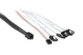 100CM Mini SAS HD to 4 x SATA Cable with Side Band