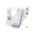 8 Way Surge Protected Power Board With 4 USB Chargers