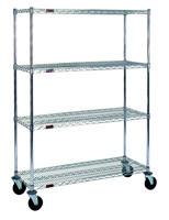 "Stem Caster Cart - 18"" x 60"" - Chrome"