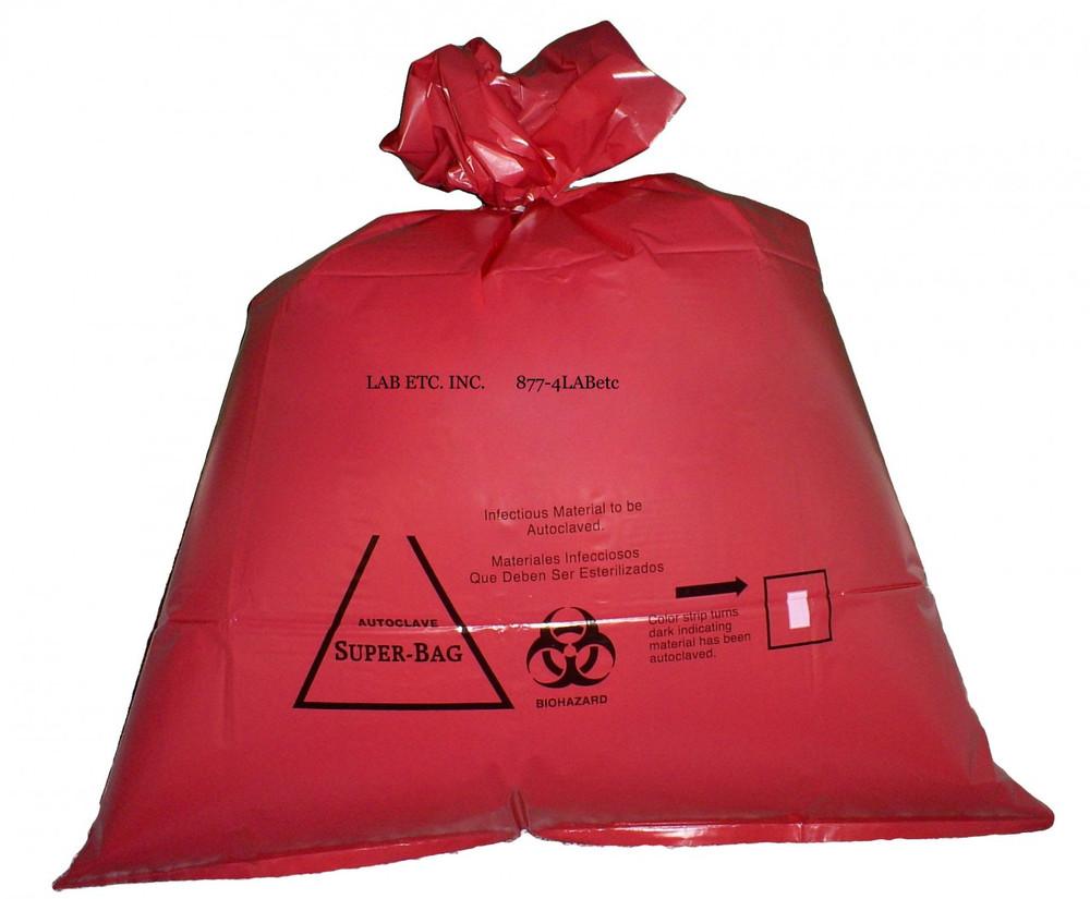 Red Biohazard Autoclave Bag W Indicator Lab Etc Inc Store